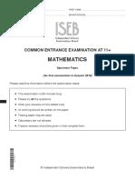 ISEB Mathematics