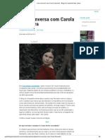 Conversa com Carola Saavedra