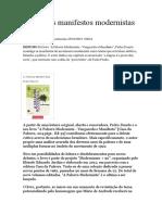 A voz dos manifestos modernistas - crítica impressionista.docx