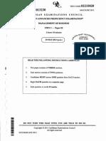 CAPE Management of Business 2013 U2 P2