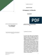 Hilary Putnam - El Lenguaje y La Filosofía (Final)