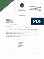 Mayor's Golf Letter