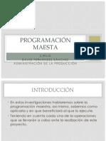 Programación Maestra