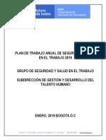 Plan Anual Sgsst 2019 Definitivo