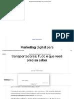 1 - Marketing Digital Para Transportadoras