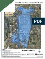 Black River Pump Station flood district map