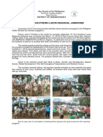 8th One Southern Luzon Jamboree Narrative and Pictorial Report
