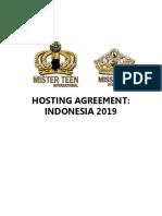 Mister & Miss Teen International Hosting Contract