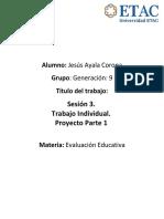 Evaluacion Educativa Proyecto Parte 1