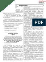 Decreto de Urgencia N° 006-2019