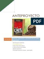 Anteproyecto El Cafe en La Historia de Colombia