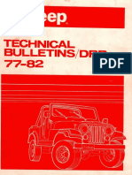 1977 Jeep Technical Service Bulletin (TSB)