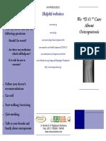 Leaflet Osteoporosis Inggris