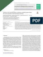 Synthesis and Characterization of Chitosan Modified Polyurethane Bio-nanocomposites