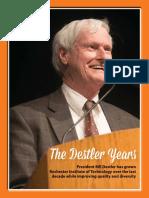 Rochester Institute of Technology President Bill Destler Retirement program