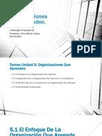 Unidad 5 Organizaciones Que Aprenden.pptx