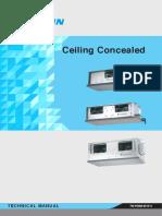Daikin Ceiling Concealed TM FDBM 0515 C