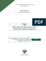 Métodos de Explotación y Procesos Metalúrgicos