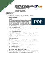 Informe 10 Comportamiento de Metales Con Ácidos Marcela Muzzio Paralelo 52