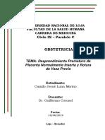 Desprendimiento Prematuro de Placenta Normalmente Inserta