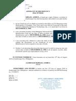 Sample Affidavit of Discrepancy
