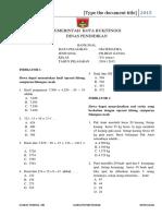 Bank Soal Matematika Edit