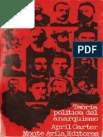 La teoría política anarquista - April Carter