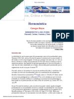Teoría, Crítica e Historia