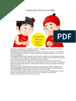 3 Cuentos Chinos Cortos Para Niños Con Moraleja