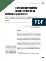 Didáctica y disciplina de los profesores