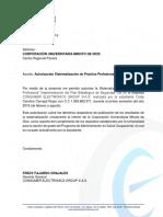Carta Solicitud de Sistematización