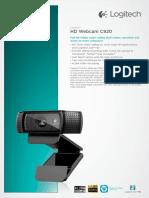 LOGITECH® HD WEBCAM C920