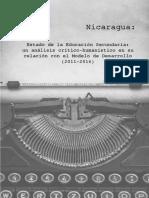 Estado de la educación secundaria en Nicaragua