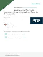 EMC Valero 2012 Una Vision Sociopolitica Del Aprendizaje y La Ensenanza de Las MatematicasOma