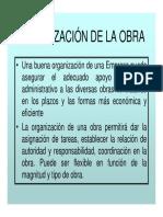 Organizacion de Obra t.preliminares t.provisionales