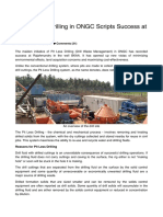 ONGC Report First Pit Less Drilling in ONGC Scripts Success at Rajahmundry