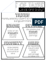 Types of Taxes Reference Sheet