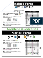 Graphing Quadratics Reference Sheet