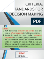 5 Io Lecture 3.1 Standards in Decision Making