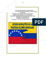 Analisis de la frontera colombo venezolana