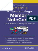 Mosby's Pharmacology Memory Notecards_ Visual, Mnemonic, And Memory Aids for Nurses (2018, Mosby)