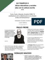Clase 12 - Eje Temático II - Paulo Freire