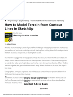 How to Model Terrain from Contour Lines in SketchUp - dummies.pdf