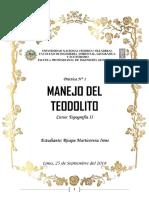 Topografía- Manejo Del Teodolito (i1)
