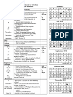 Montly Calendar