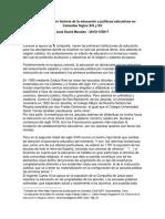 Anotaciones Sobre Historia de La Educación y Políticas Educativas en Colombia Siglo XIX y XX (Recuperado Automáticamente)