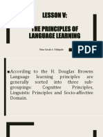 Principles of Teaching 2 Chapter 7 Lesson 5 the Principles of Language Learning