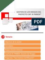 PPT Gestion de Riesgos Cap XI PMBOK 6ta (1)