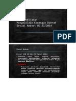 Arah Kebijakan Pengelolaan Keuangan Daerah Sesuai Amanat UU 23/2014
