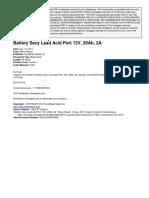 Battery Secy Lead Acid Port 12